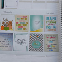 Full Box Inspirational Planner Stickers  Planner Stickers , Erin Condren Planner Horizontal or Vertical , Functional Stickers , ECLP