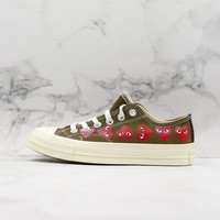 COMME des Garçons CDG Play x Converse All Star Chuck Taylor Low Top Canvas Sneaker - Best Deal Online