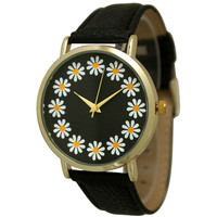 Olivia Pratt Women's Simple Flower Print Watch | Overstock.com Shopping - The Best Deals on More Brands Women's Watches