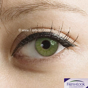 Freshlook Gemstone Green Contact Lenses - 2 x Lenses (1 Pair)