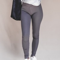 JOAH BROWN Scallop Ankle High Waist Leggings