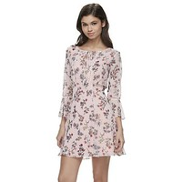 Disney's Beauty and the Beast Juniors' Floral Shift Dress