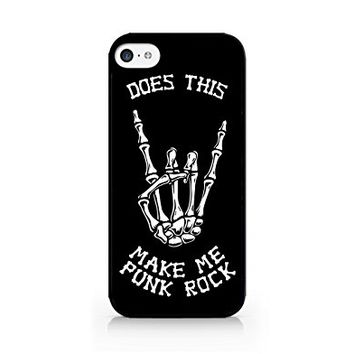 Does This Make Me Punk Rock - Skeleton - iPhone 5C Black Case (C) Andre Gift Shop