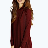 Kali Slouch Hooded Knit Lounge Dress