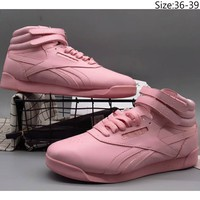 Reebok 2018 counter models men and women trend top casual sports shoes F-A36H-MY Pink