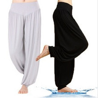 Women Comfy Harem Loose Long Pants Belly Dance Casual Boho Wide Trousers Yoga [7671429830]