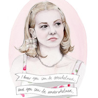 Bianca Stratford watercolor portrait illustration PRINT 10 Things I Hate About You