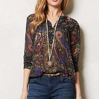 Pintucked Peasant Blouse
