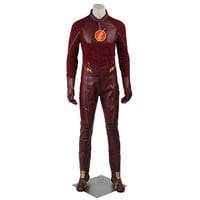 2016 Manles The Flash Cosplay Costume With Boots Men's Costume The Flash Season 2 Barry Allen Costume Flash Superhero Cosplay