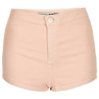MOTO Pale Pink Denim Hotpants - New In This Week  - New In