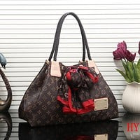 Louis Vuitton LV Women Fashion Leather Satchel Shoulder Bag Handbag