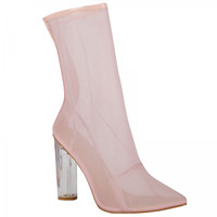 High Society Pink Mesh Ankle Boot