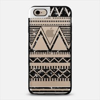 Black Marble Tribal Transparent iPhone 6 case by Organic Saturation | Casetify