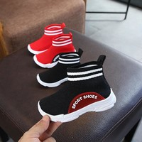 Kids Shoes Mesh Breathable / Kids Shoes For Girl Boys / 2018 Kids Sneakers Breathable Solid Ankle Boots For Children Shoes