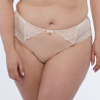 Sheer Mesh Tulle Embroidered Brief Panty Anabelle