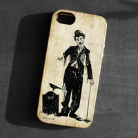 IPhone 5 Case zombie Charlie Chaplin skull skeleton TPU Silicone Cover iPhone gothic art grave crow