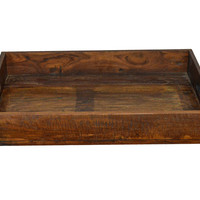 Solid Wood Reclaimed 24 Inch Farmhouse Decorative Tray