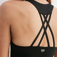 Medium-Impact -Crisscross Back Sports Bra