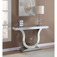 Aesthetically Charmed Mirrored Console Table, Silver By Coaster