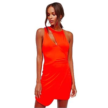 Free People Toast To That Bodycon Mini Dress Red