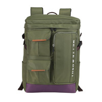 Unisex Oxford Army Green College Backpack Daypack Travel Bookbag