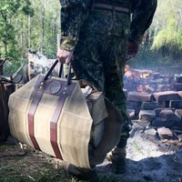 Log Carrier :: Duluth Pack :: Made in the USA :: Quality leather and canvas luggage, backpacks, camping, and outdoor gear,