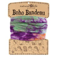 Orange, Purple & Green Tie-Dye Boho Bandeau by Natural Life