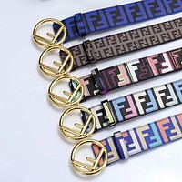 FENDI Woman Men Fashion Buckle Belt Leather Belt-7