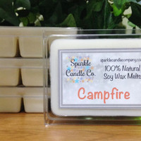 Soy Wax Melts - CAMPFIRE Scented Tart Melts - 1 package - Firewood