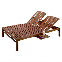 Kona Double Pool Lounger with Side Tray | World Market