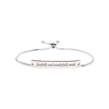 Fully Adjustable Inspirational Slider Bracelet