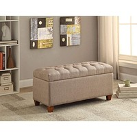 Functionally Stylish Bench, Taupe Brown