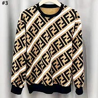 Fendi 2019 new double F letter round neck sweater #3