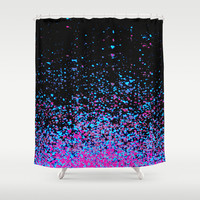 infinity in blue and purple Shower Curtain by Marianna Tankelevich