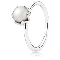 Authentic Pandora Jewelry - Cultured Elegance w-Pearl Ring