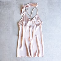 Reverse - Choker Slip Dress in Light Pink