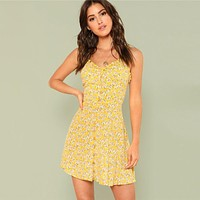 SUNSHINE & FLOWERS DRESS