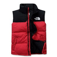 """""""THE NORTH FACE"""" Unisex Fashion Solid Color Sleeveless Cotton-padded Clothes Vest Jacket Coat"""