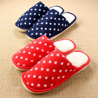 Cartoons Cotton Winter Couple Home Anti-skid Slippers [8102199553]