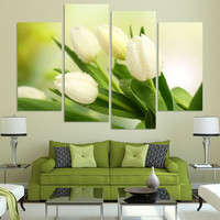 Framed art 4 panel canvas painting pictures on the wall print paintings home decor canvas wall art for living room h046