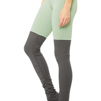Goddess Legging - Sage/Stormy Heather