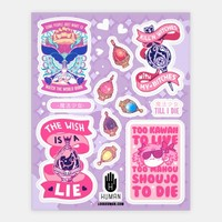 Magic Girl Till I Die Stickers