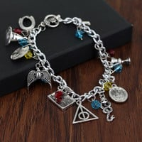 2017 New  Peripheral Accessories Harry Potter Hat Ancient Sorting Silver Magic Bracelet-0406