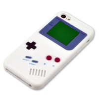 My8 White Iphone 5C Cover Retro Design Game Boy Style Rubber Case Skin for Apple Iphone 5C