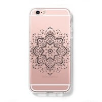 Art Floral Pattern iPhone 6s Clear Case iPhone 6 Cover iPhone 5S 5 5C Hard Transparent Case C026