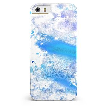 Blue Watercolor on White iPhone 5/5s or SE INK-Fuzed Case