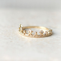 Tiara Ring in gold plated sterling silver