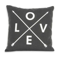 Love Arrow Pillow - Smoky Grey