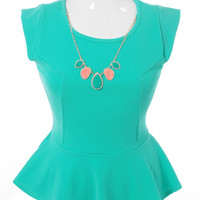 Plus Size Stone Necklace Flare Teal Top, Plus Size Clothing, Club Wear, Dresses, Tops, Sexy Trendy Plus Size Women Clothes
