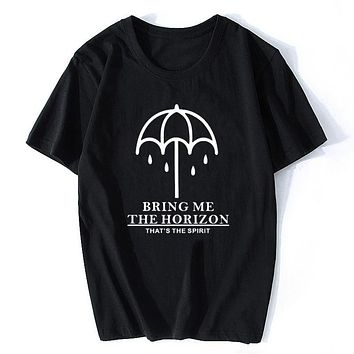 Bring Me The Horizon Can You Feel My Heart Men T Shirts Digital Printed Combed Cotton Top Tees Homme Customized Harajuku|T-Shirts